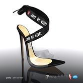 [Gos] Gabby Plexi Sandals - Black