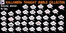 [ free bird ] Halloween Thought Bubble - So Cute it's Scary