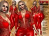 **MARISE RED VERSION ROCK STYLE COMPLET OUTFIT** (WEAR)
