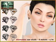 Bliensen + MaiTai - Diamante - ear studs