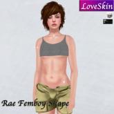 Rae Femboy Shape for Catwa, Maitreya, V-tech Boi Chest