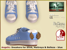 Bliensen - Angelic - sneakers with wings - blue