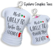 Eyelure Couple's Tee [F] - Most Likely To Crash The Sleigh