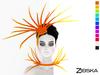 Zibska [50L Closeout] ~ Teeker Color Change Headpiece & Collar