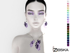 Zibska ~ Zsizsi Color Change Necklace and Earrings