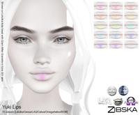 Zibska ~ Yuki Lips in 15 colors with Lelutka, Genus, LAQ, Catwa and Omega appliers and tattoo layers