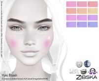 Zibska ~ Yuki Blush in 12 colors with Lelutka, Genus, LAQ, Catwa and Omega appliers and tattoo layers
