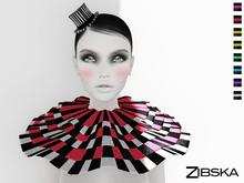 Zibska [50L Closeout] ~ Foole Color Change Top Hat & Ruffle Collar