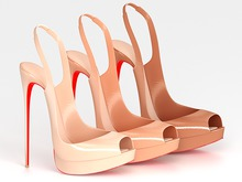 Salvadori - Nude 'Christina' Patent Leather Pumps