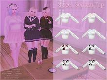 {PL} Sweet Seifuku Top - Black
