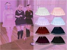 {PL} Sweet Seifuku Skirt - Black