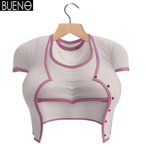 BUENO-Cardi Set-White