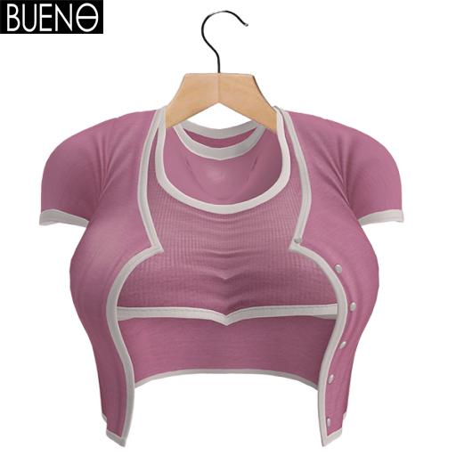 BUENO-Cardi Set-Pink