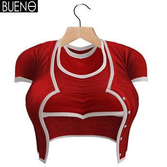 BUENO-Cardi Set-Red