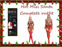 TA Hot Miss Santa complete outfit