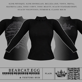 BEARCAT.EGG ; Collar Sweater Black