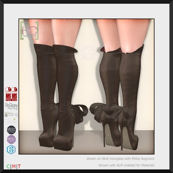 [HC] Isadora Coffee Knee Boots for Slink, Belleza, Maitreya, eBody, Signature & Tonic