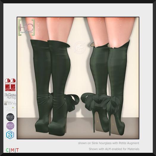 [HC] Isadora Moss Knee Boots for Slink, Belleza, Maitreya, eBody, Signature & Tonic