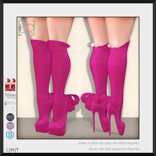 [HC] Isadora Fuchsia Knee Boots for Slink, Belleza, Maitreya, eBody, Signature & Tonic