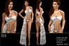 BD-Chloe silver sequin gown maxi dress evening dress skirt