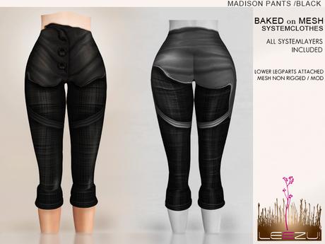 [LeeZu!] Madison Pants /black