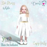 *Cherry Tot* Youth Fitted Liv Dress White (Wear&Click)