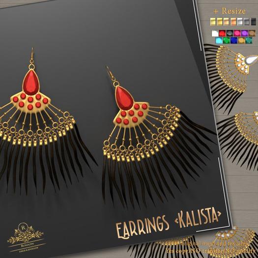 Romazin - Earrings <Kalista>, FatPack