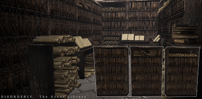 DISORDERLY. / The Great Library / Bookshelves