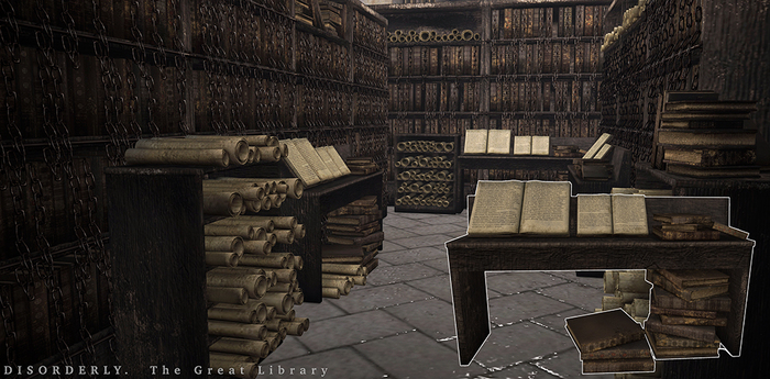 DISORDERLY. / The Great Library / Reading Table