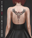 TAOX TaTToo Back Gothic Roses Bat & BoM [ Bakes on Mesh ] & Appliers Omega Legacy Signature Maitreya Slink Belleza