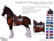 [Teegle] Western Tack Set for Teeglepet Clydesdale Horse