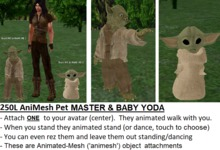 *NEW* Animated-Mesh Attachment-Pet YODAs