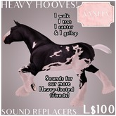 TEEGLEPET SOUNDS: Heavy Hoof Sound Replacers