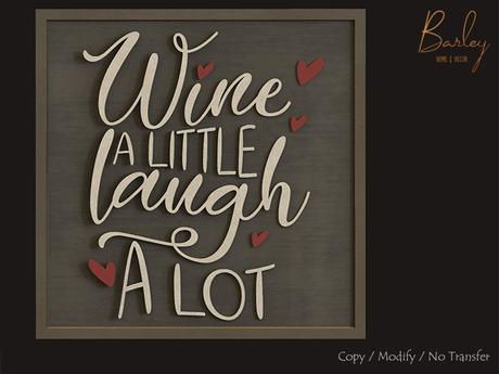 Barley - Napa Valley Set - Wine & Laugh Chalkboard Sign