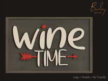 Barley - Napa Valley Set - Wine Time Chalkboard Sign