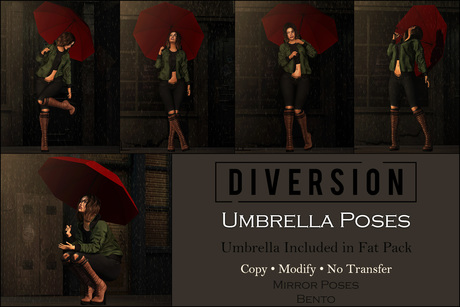 Diversion - Umbrella Poses // Bento