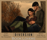 Diversion - Book Lovers - Couple Pose (Wear To Unpack)