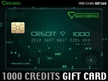 ★ Magic Emerald Gift Card ★ L$ 1000 - Prepaid Credits