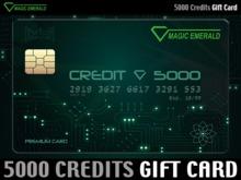 ★ Magic Emerald Gift Card ★ L$ 5000 - Prepaid Credits
