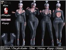 [ Mesh ] OutFit Black Leather - Slink, Maitreya, Legacy - Mistress