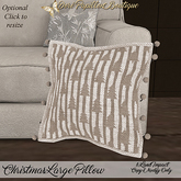 DPB Christmas Large Pillow - Beige Trees