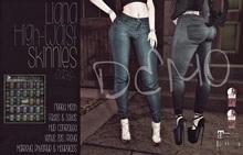 [QE] Liana High Waist Skinnies -Dark- DEMO