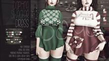 [QE] Daphne Sweater Dress -Christmas- DEMO