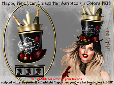 irrISIStible : UNISEX HAPPY NEW YEAR 2020 HAT  +3 COLORS HUD
