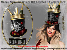 irrISIStible : UNISEX HAPPY NEW YEAR 2020 HAT  +3 COLORS HUD TRANSFERABLE !!!!