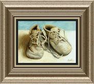 DM Vintage Baby Shoes Framed