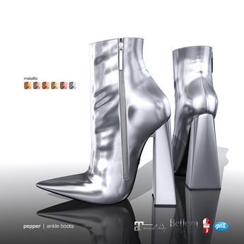[Gos] Pepper Ankle Boots - Metallic