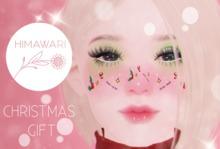 .himawari. Christmas Face Tattoo Gift (Omega)
