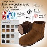 Orange*Pekoe - Short sheepskin boots (natural)