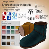 Orange*Pekoe - Short sheepskin boots (colorful)